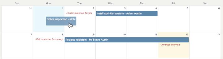 calendar-dragging