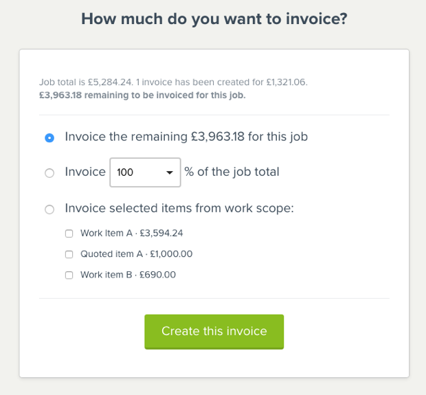 How much to invoice?