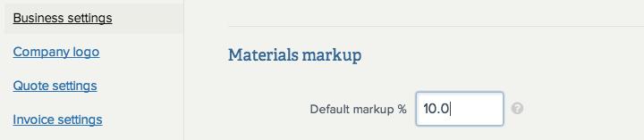 materials-markup