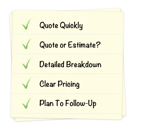 How to write a winning builders quote